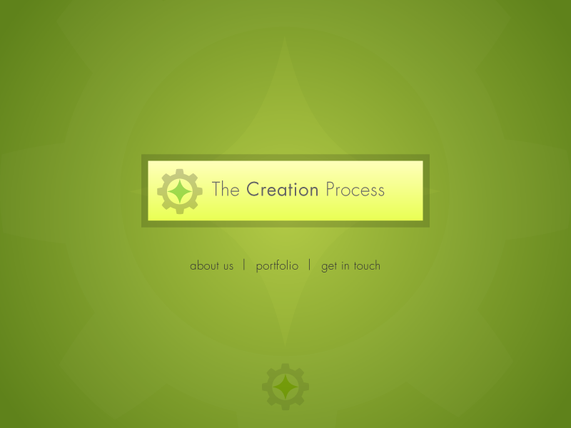 The Creation Process | branding + web development